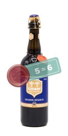 Chimay Grand Reserve Blauw 5 = 6